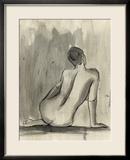 Sumi-e Figure II Framed Giclee Print by Ethan Harper