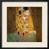 The Kiss, 1907-1908 Estampe encadr&#233;e par Gustav Klimt