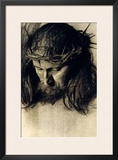 Head of Christ, circa 1890 Framed Giclee Print by Franz von Stuck