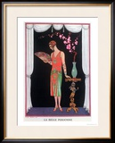 Worth Evening Dress, Fashion Plate from Gazette Du Bon Ton, 1925 Framed Giclee Print by Georges Barbier