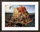 Der Turm zu Babel, ca. 1563 Gerahmter Giclée-Druck von Pieter Bruegel the Elder