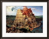 The Tower of Babel, c.1563 Framed Giclee Print by Pieter Bruegel the Elder