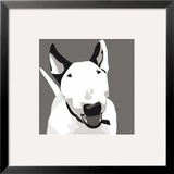 Bull Terrier Print by Emily Burrowes