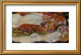 Serpenti d'acqua II, ca. 1907 Stampa giclee con cornice di Gustav Klimt
