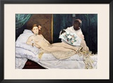 Olympia, 1863 Framed Giclee Print by Édouard Manet