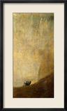 Der Hund, 1820-23 Gerahmter Giclée-Druck von Francisco de Goya