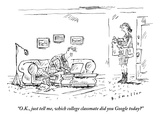 """O.K., just tell me, which college classmate did you Google today?"" - New Yorker Cartoon Premium Giclee Print by Barbara Smaller"