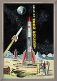 Friction Moon Rocket Poster