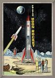 Friction Moon Rocket Poster