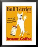 Bull Terrier, Marca Stampa giclee con cornice di Ken Bailey