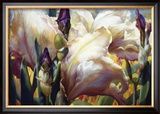 Iris Garden Art by Elizabeth Horning