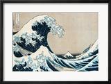 """Die große Welle von Kanagawa, aus der Serie """"36 Ansichten des Berges Fuji"""" (""""Fugaku sanjuokkei"""") Gerahmter Giclée-Druck von Katsushika Hokusai"""