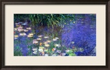 Waterlilies (Les Nympheas), Study of the Morning Water Gerahmter Giclée-Druck von Claude Monet