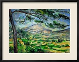 Mont Sainte-Victoire with Large Pine-Tree, circa 1887 Estampe encadrée par Paul Cézanne