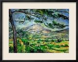 Montagne Sainte-Victoire mit großen Pinien, ca. 1887 Gerahmter Giclée-Druck von Paul Cézanne
