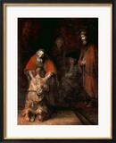 Heimkehr des verlorenen Sohnes, ca. 1668–1669 Gerahmter Giclée-Druck von  Rembrandt van Rijn