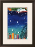 Sydney Harbour Poster by Ian Tremewen