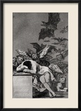"The Sleep of Reason Produces Monsters, from ""Los Caprichos"" Gerahmter Giclée-Druck von Francisco de Goya"