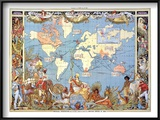Map: British Empire, 1886 Prints by Walter Crane