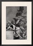 "The Sleep of Reason Produces Monsters, from ""Los Caprichos"" Framed Giclee Print by Francisco de Goya"