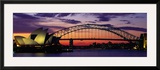 Sydney Harbour Bridge at Sunset, Sydney, Australia Framed Photographic Print by  Panoramic Images