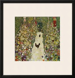 Gardenpath with Hens, 1916 Framed Giclee Print by Gustav Klimt