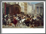 Wall Street: Bears &amp; Bulls Art by William Holbrook Beard