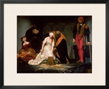 The Execution of Lady Jane Grey, 1833 Framed Giclee Print by Hippolyte Delaroche