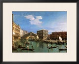 The Rialto Bridge, Venice Framed Giclee Print by  Canaletto