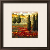 Tuscany in Bloom III Print by J.m. Steele