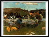 Gauguin: Swineherd, 1888 Art by Paul Gauguin