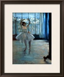 Dancer in Front of a Window (Dancer at the Photographer's Studio) circa 1874-77 Framed Giclee Print by Edgar Degas