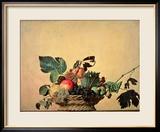 Basket with Fruit, circa 1596 Gerahmter Giclée-Druck von  Caravaggio