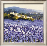 Champs D'Iris, Provence Prints by Hazel Barker