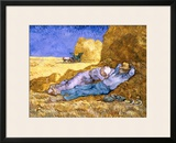 Midday Rest (after Millet), c.1890 Framed Giclee Print by Vincent van Gogh