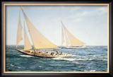 Das größte Rennen Kunstdruck von Montague Dawson