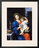 The Virgin of the Grapes, 1640-50 Framed Giclee Print by Pierre Mignard