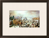 Winter Games Framed Giclee Print by Hendrik Avercamp