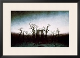 Abbey in the Oakwood, 1810 Framed Giclee Print by Caspar David Friedrich