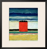 Red House, 1932 Framed Giclee Print by Kasimir Malevich
