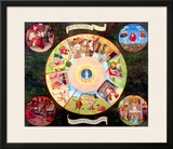 Tabletop of the Seven Deadly Sins and the Four Last Things Framed Giclee Print by Hieronymus Bosch