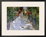 Mending the Sail Framed Giclee Print by Joaquín Sorolla y Bastida