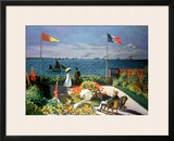 The Terrace at Sainte-Adresse, 1867 Framed Giclee Print by Claude Monet