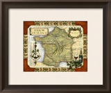Wine Map of France Prints