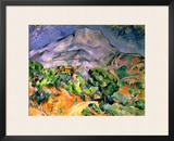Mont Saint Victoire, 1900 Framed Giclee Print by Paul Cézanne