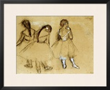 Three Dancers Framed Giclee Print by Edgar Degas