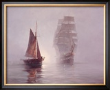 Night Mists Framed Giclee Print by Montague Dawson