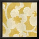 Suzani Silhouette in Yellow I Prints by Chariklia Zarris