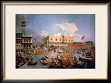 Return of the Bucintoro on Ascension Day Framed Giclee Print by  Canaletto