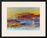 Sunset on Rouen Framed Giclee Print by William Turner